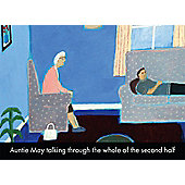 Holy Mackerel Auntie May Talking Through The Second Half Greetings Card