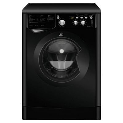 Indesit IWD71451K Washing Machine, 7kg Load, 1400 RPM Spin, A+ Energy Rating, Black