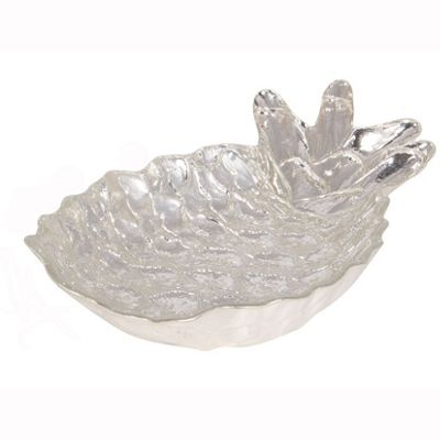 Silver Glass Pineapple Dish