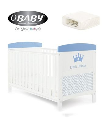 Obaby Grace Inspire Cotbed and Sprung Mattress - Little Prince