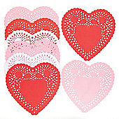 Red Pink & White Heart Shaped Doilies for Kids/Adult Arts and Crafts - Valentines Day Party Table Decoration (Pack of 75)