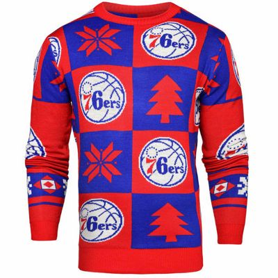 NBA Basketball Philadelphia 76ers Patches Crew Neck Sweater - S