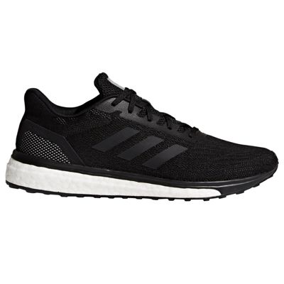 adidas Response Mens Neutral Running Trainer Shoe Black/White - UK 12