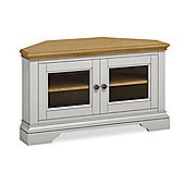 Normandy Grey Painted Corner TV Stand - TV Stand