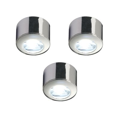 Pepa Kit 1W Cool White Cabinet Light Chrome Effect Abs Plastic