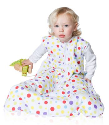 Snoozebag Baby Sleeping Bag 6-18 Months Spots 2.5 tog