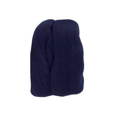 Impex Natural Wool Roving Navy 10 Grams