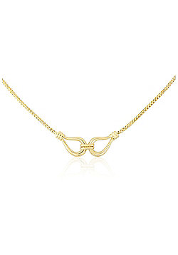 """Ladies 9ct Yellow Gold Joined Loops Popcorn Necklace 17""""/43cm"""
