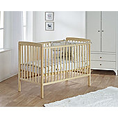 Kinder Valley Sydney Cot Nautral with Kinder Flow Mattress Bundle