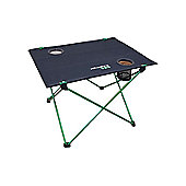 Lightweight Folding Table - Green Frame / Black Top - Yellowstone