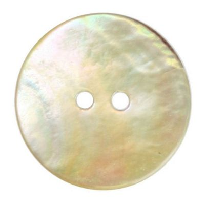 Hemline Two Hole Natural Shell Buttons 22.5mm 2pk