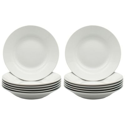 White Rimmed Soup / Pasta / Cereal / Bowls - 230mm (9