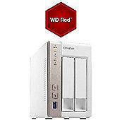 QNAP TS-251/12TB-RED 2-Bay 1GB RAM 12TB(2x6TB WD RED) NAS and Media Server