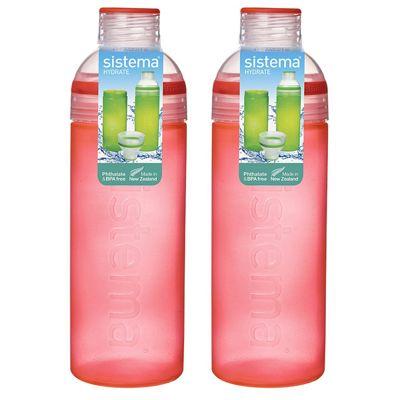 Sistema Trio Drink Bottle 700ml, Orange Set of 2