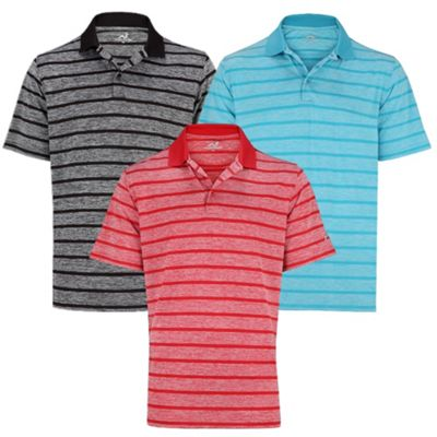 Woodworm Golf Clothes Heather Stripe Mens Polo Shirts 3 Pack 4Xl