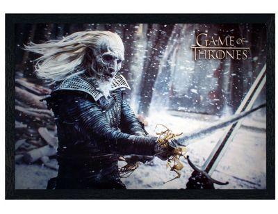 Game of Thrones Black Wooden Framed White Walker Poster 61x91.5cm