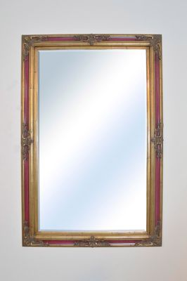 Large Gold Ornate Antique Wall Mounted Mirror 5Ft10 X 3Ft10, 178Cm X 117Cm