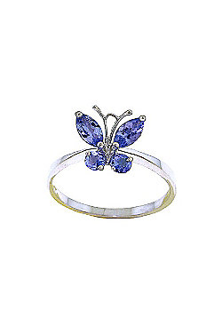 QP Jewellers 0.60ct Tanzanite Butterfly Ring in 14K White Gold