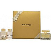 Dolce & Gabbana The One Gift Set 75ml EDP + 100ml Body Lotion + 100ml Shower Gel For Women