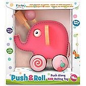 Fiesta Crafts Pink Elephant Push n Roll Along