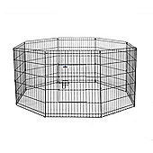 Confidence Pet Metal Indoor Foldable Dog Playpen Puppy Guinea Pig Exercise M