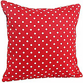 Homescapes Cotton Red Polka Dots Scatter Cushion, 45 x 45 cm
