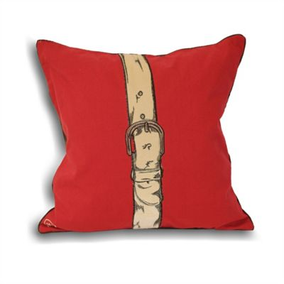 Riva Home Polo Strap Red Cushion Cover - 45x45cm