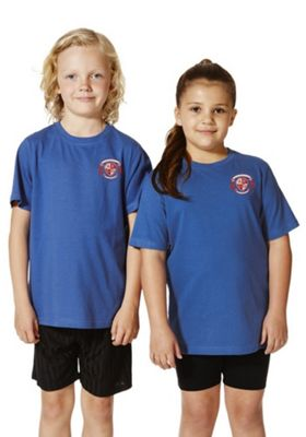 Unisex Embroidered Sports T-Shirt 5-6 years Blue