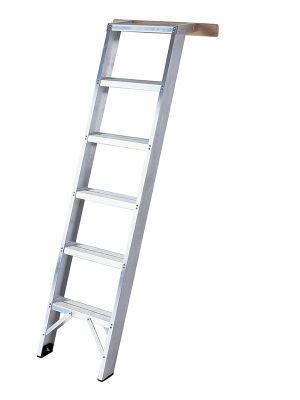 Heavy Duty 5 Tread Aluminium Shelf Ladder