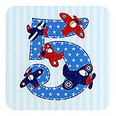 Little Stars Boys 5th Birthday Card
