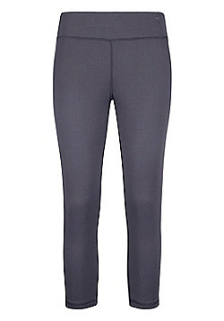 Mountain Warehouse Womens Lightweight Leggings Isocool Design with Antibacterial - Grey