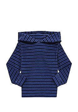 F&F Textured Stripe Hoodie - Navy