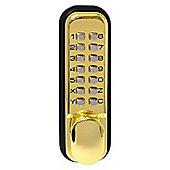 Sterling Polished Brass Digital Door Lock