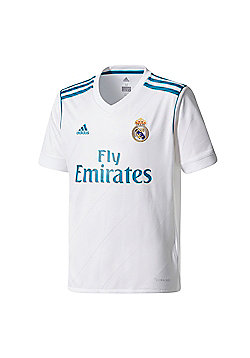 adidas Real Madrid 2017/18 Kids Home Football Jersey Shirt White - White