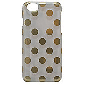 Tortoise Hard Protective Case,iPhone 6, Clear with Gold spots.
