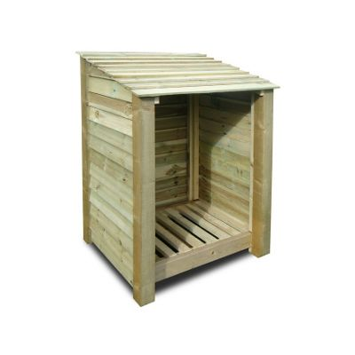 Burley wooden log store - 4ft