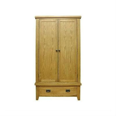 Cambridge Petite Rustic Oak Gents Wardrobe