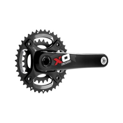 SRAM X0 Chainset - GXP - 2x10 - 170mm - Red - All Mountain Guard - 38-24 (Excludes BB)