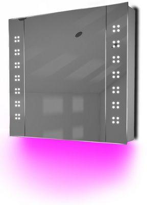 Ambient Audio Bathroom Cabinet With Bluetooth, Shaver Socket & Sensor K19Paud