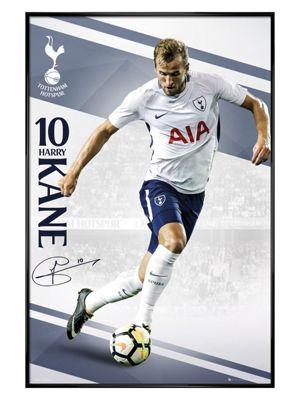 Tottenham Hotspur FC Gloss Black Framed Kane 17-18 Poster 61x91.5cm