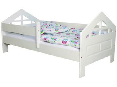 Bella White Toddler Bed & Coolmax Pocket Sprung Mattress