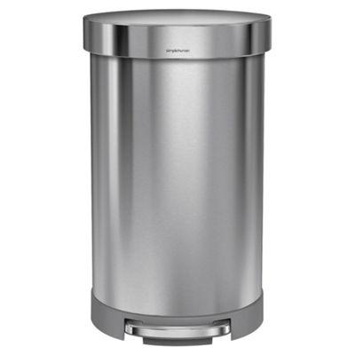 Simplehuman 45L Semi Round Stainless Steel Bin