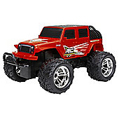 1:18 R/C Chargers Jeep Red