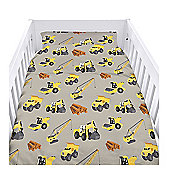Diggers Cot Duvet Cover Set with Pillowcase