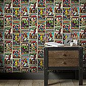 Marvel Avengers Action Heroes Multi-Coloured Wallpaper