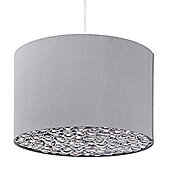 Litecraft Nuit Drum Easy to Fit Ceiling Shade, Silver
