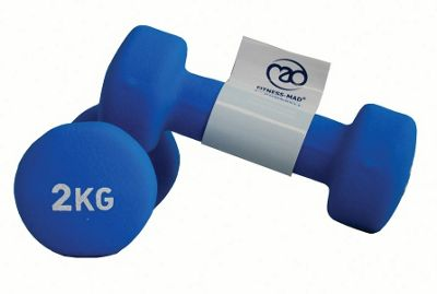 Fitness Mad Neo Dumbbell Pair 2 x 2kg Blue