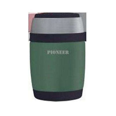 Pioneer Durable Dbl Wall Vacuum Food Flask 0.48L Met Green
