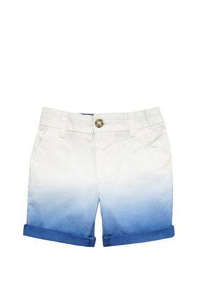 F&F Dip Dye Chino Shorts White/Blue 12-18 months