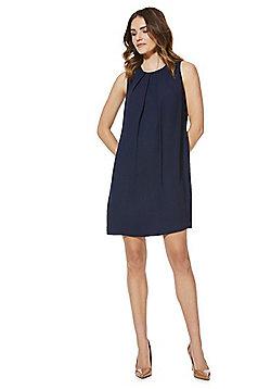 F&F Tie-Back Shift Summer Dress - Navy blue